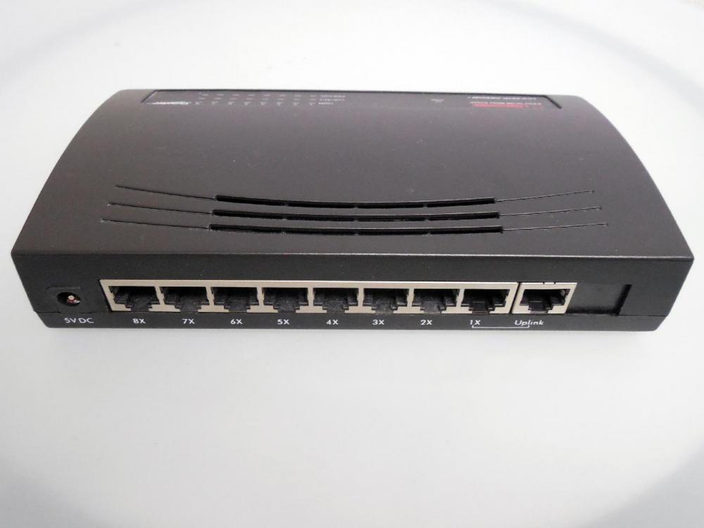 One port is designated for the cable that connects the switch to the router, so the number of connections a switch accepts is one less than the number of ports.