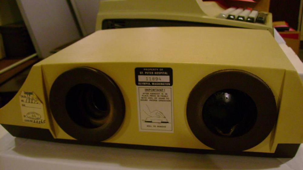 Acoustic couplers -- which send and receive computer data through telephone lines -- preceded modern modem technology in the early days of Internet use.