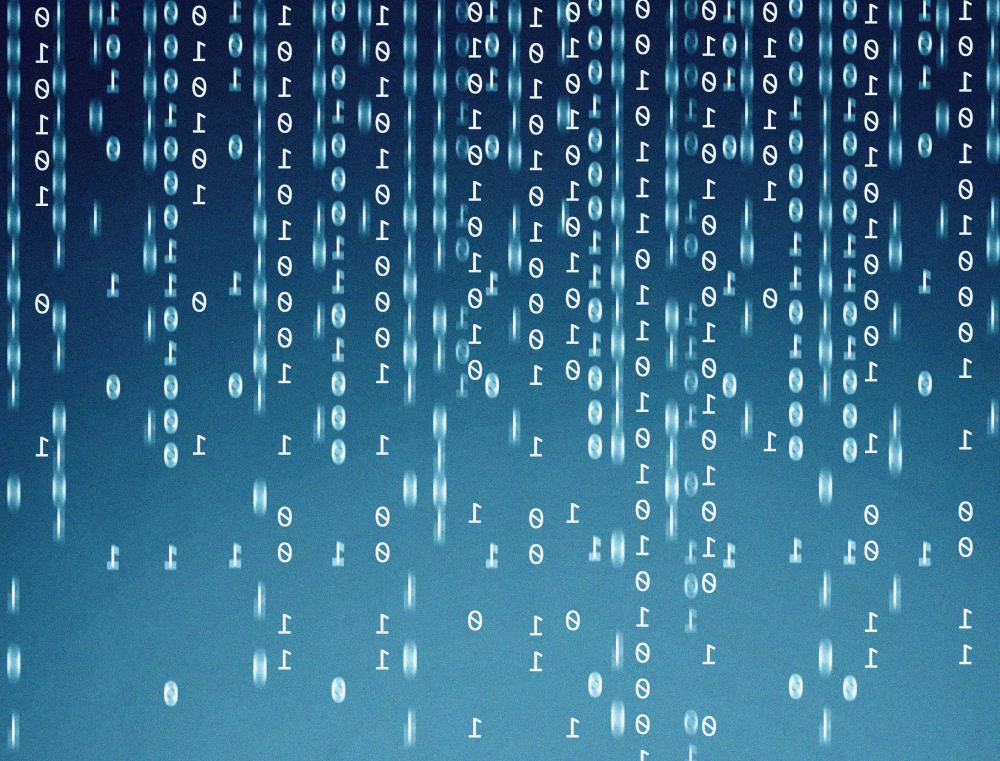 All computer data is stored in binary form, which consists of 1s and 0s.