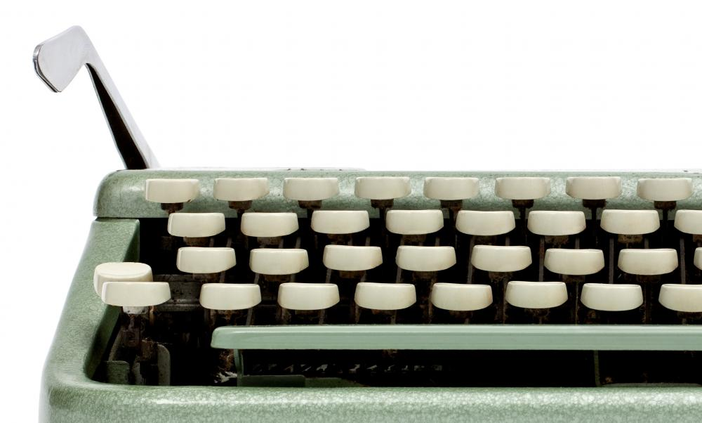 Typewriters once relied on carriage returns to advance pages.