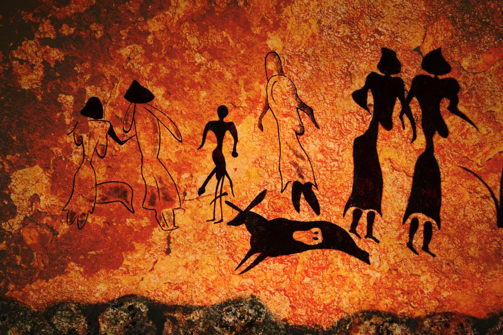 Cave paintings are an early example of visualization.