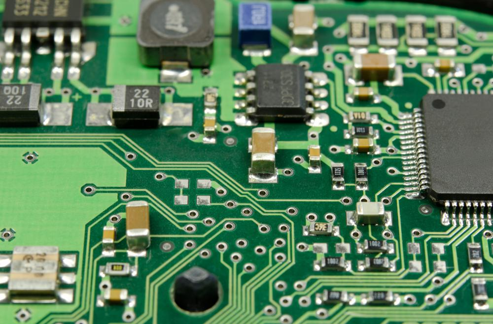 Circuit boards have an insulator, with threads of conductive material.