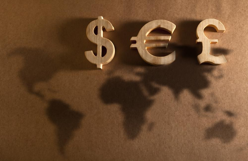 A character map include currency signs.