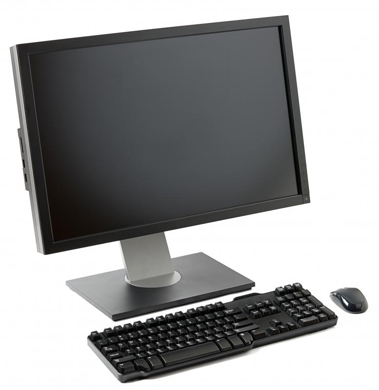 A computer, mouse, and keyboard with a control key.