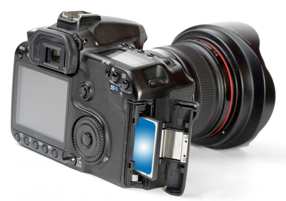 SD cards can be used to store photos and video taken on digital cameras.