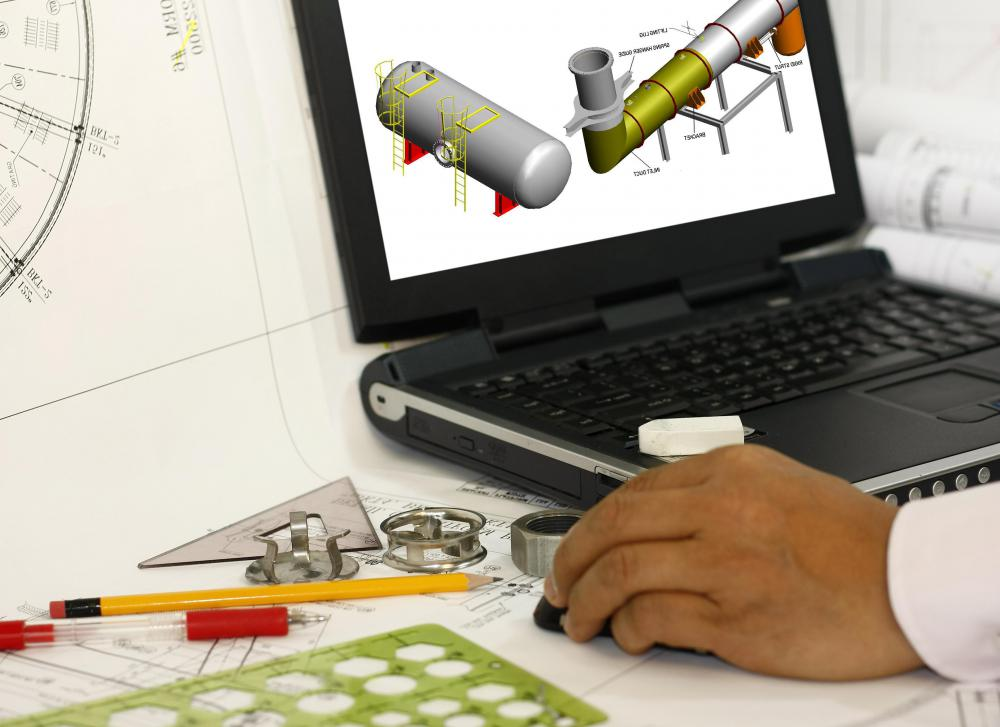 Many types of engineering use computer aided design software.