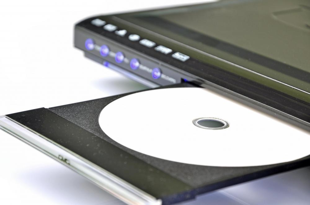 A DVD or Blu-Ray player reads an optical disk to playback movies.