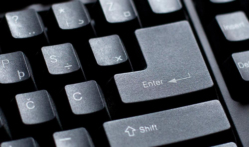 "A computer's ""enter"" key performs the same function as a carriage return."