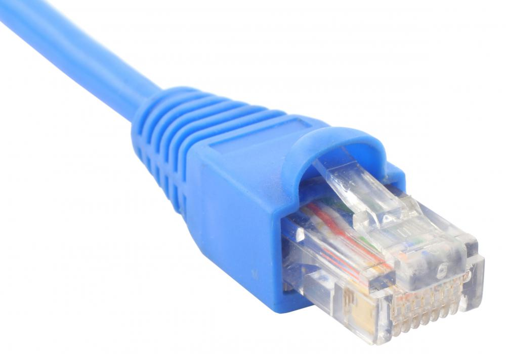 An Ethernet cable, which can be used to connect a computer to a router.
