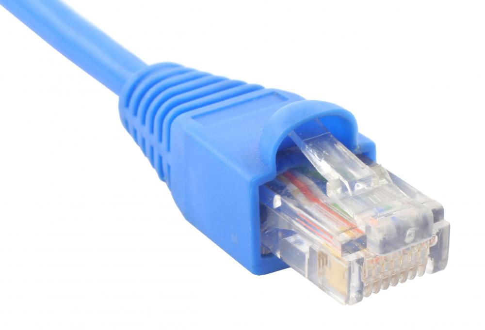 An ethernet cable can accommodate the data rates provided by T1 service.