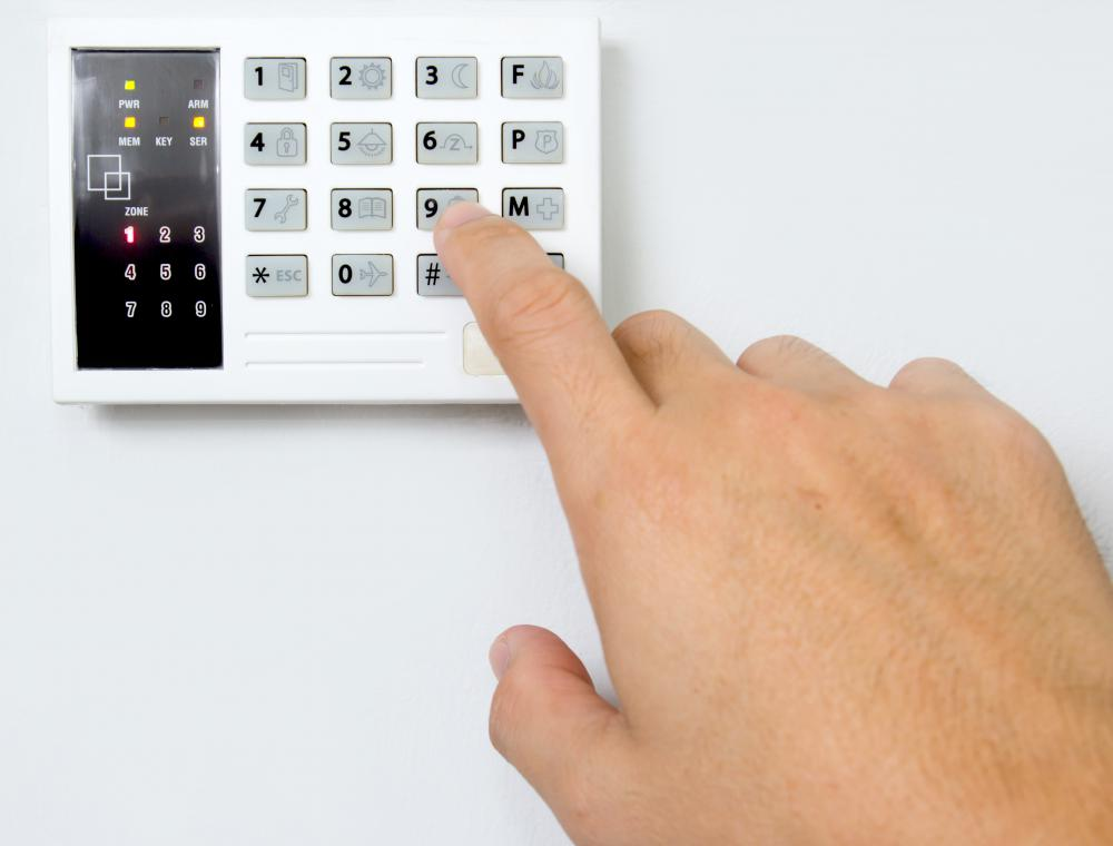 A cipher lock is opened with a programmable keypad.