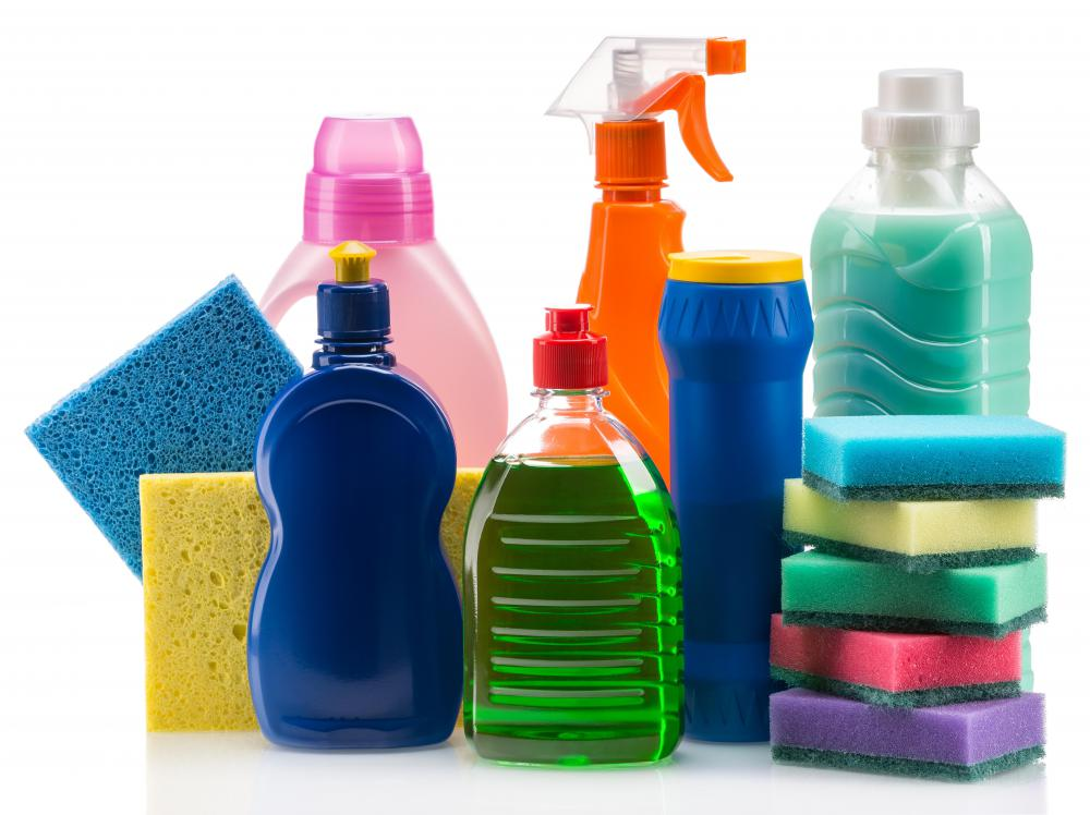 Some household cleaning supplies can be used to clean a CD or DVD.