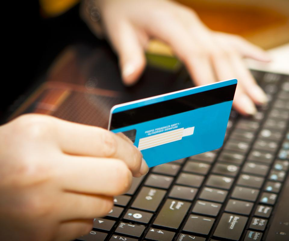 Credit card information can be stolen online if a computer isn't secure.