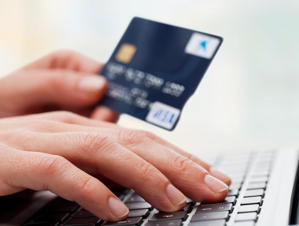 People shopping online for groceries use their credit or debit card.
