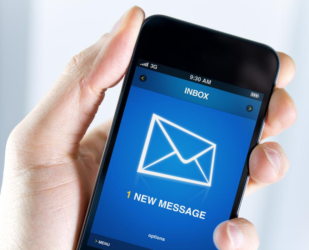 Cell phones may offer email notification services.