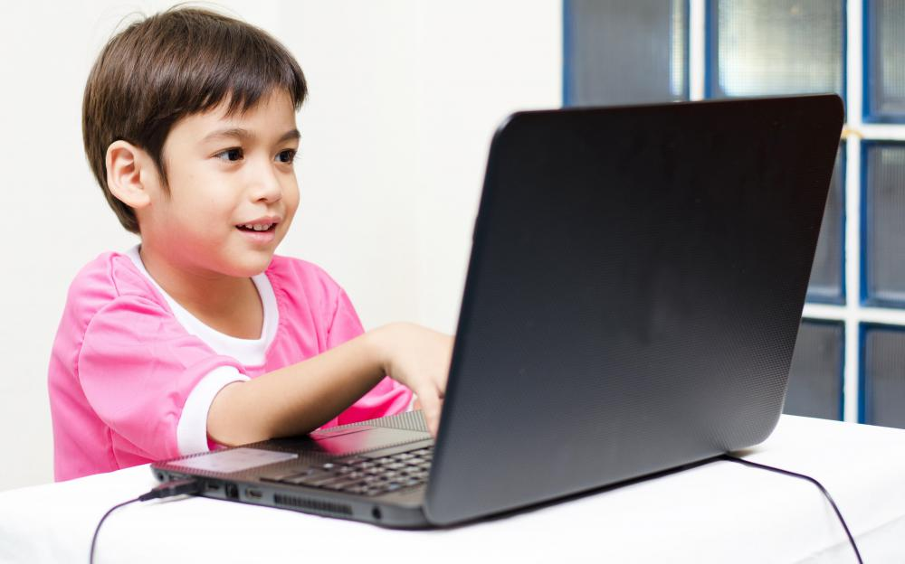 Some computer games are made to teach children basic math or reading skills.