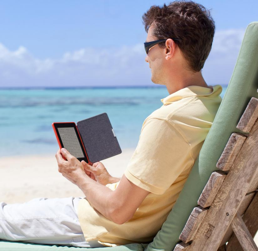 E-readers are easier to take on vacation than a whole stack of books.