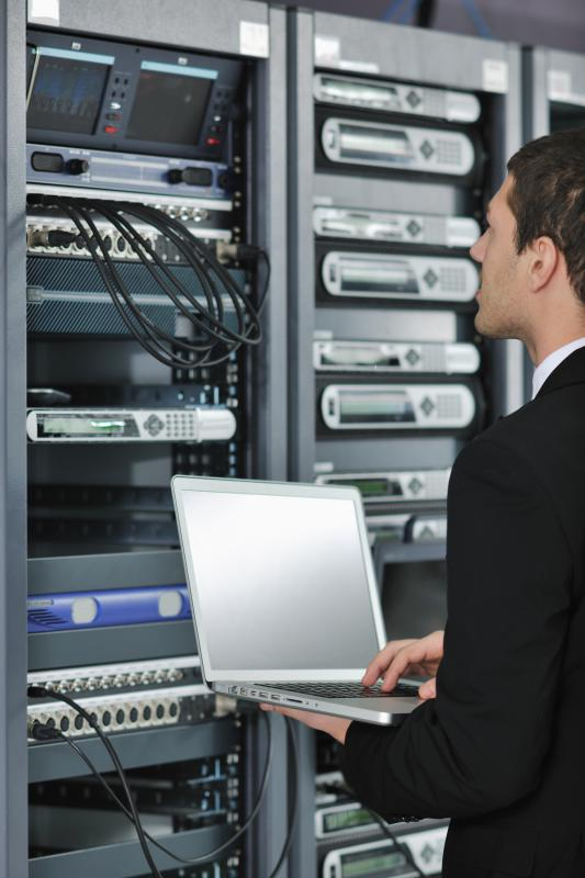 A network engineer may be tasked with setting up a company's servers.