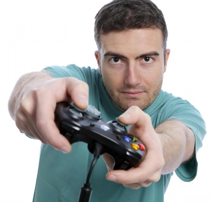 Many people enjoy playing first-person shooter style games via the Internet.