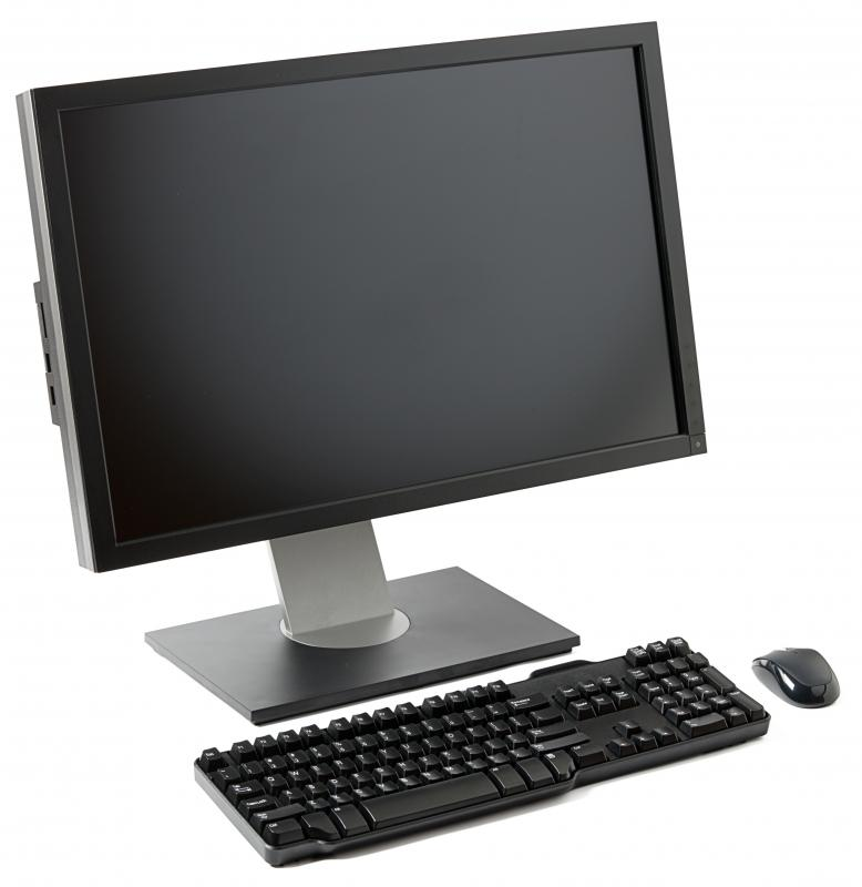 A thin client can consist of as little as a monitor, keyboard, and mouse.