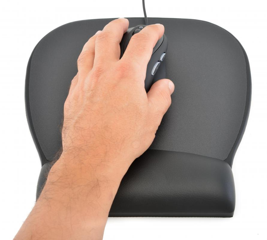 A wrist rest may be helpful in preventing hand and wrist fatigue during computer work.