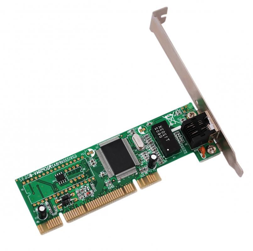 A network interface card, which connects to an Ethernet cable.