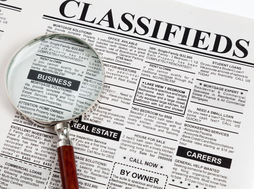 Items in good working order can be sold through classified ads.