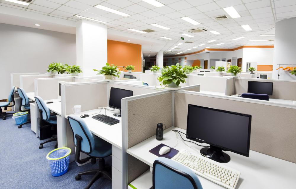 Wireless local area networks are ideal for office spaces that are densely packed with workers.