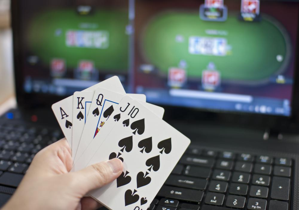 Card games, like poker, are often played online.