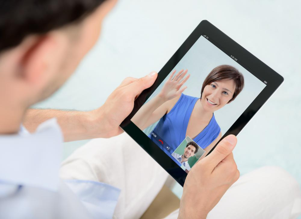 Video conferencing is now possible on mobile devices like tablets and smartphones.