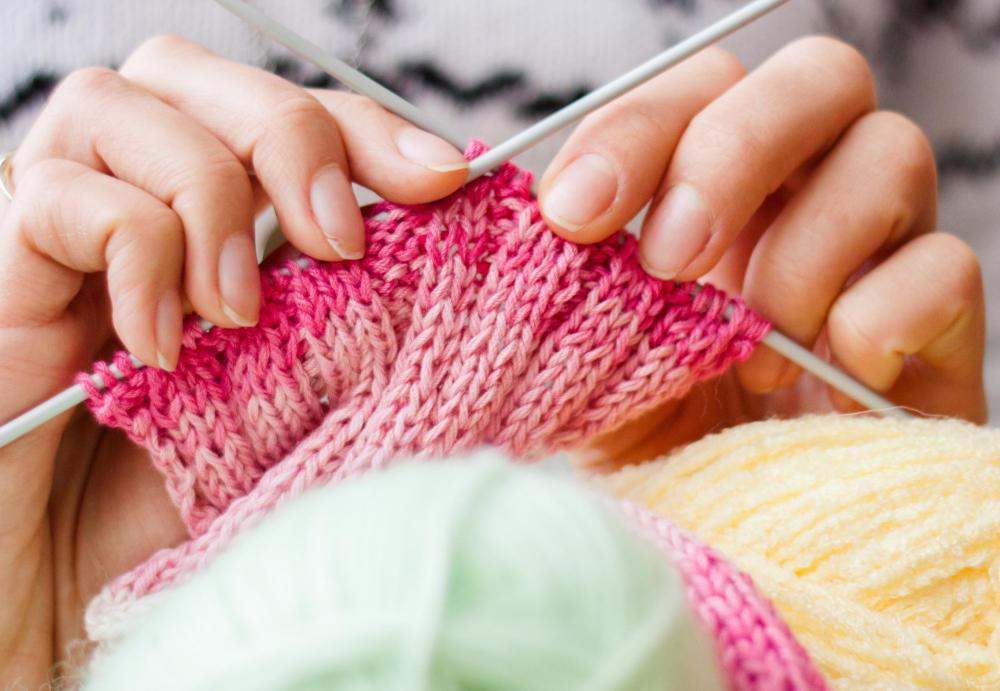 Textile software can be used to create knitting designs.