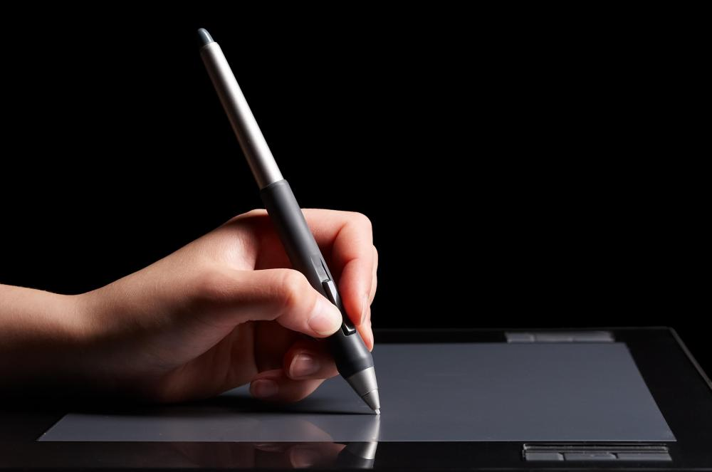 Graphics tablets may allow users to mimic drawing with a pen, for example by creating heavy lines by pressing down with the stylus.