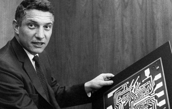 Robert Noyce patented the first printed integrated circuit in 1958.