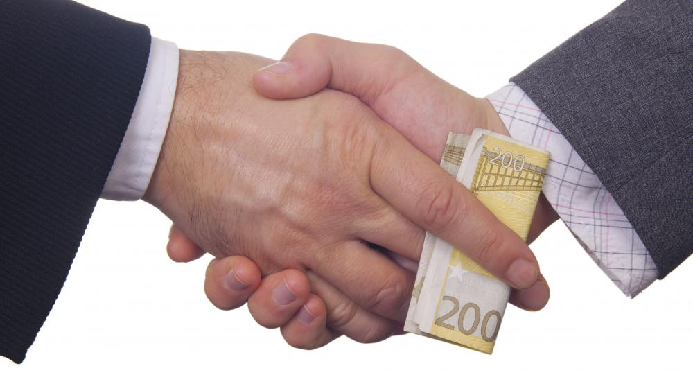 Sometimes bribery is used to acquire information on a business's competitors.