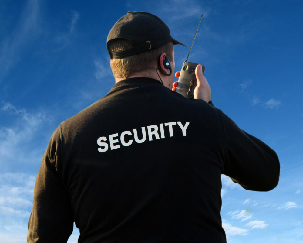 Some companies choose to use security guards as part of their physical security system.