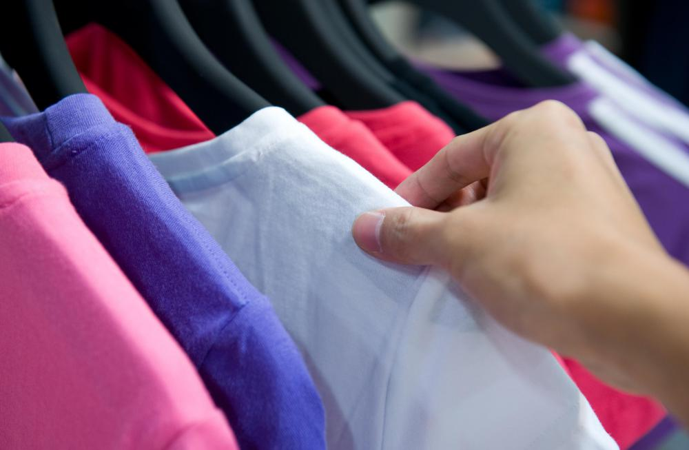 When buying online, purchasers can't touch or try on the items.