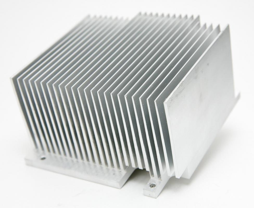 A heat sink may be used to cool a 3D graphics card.