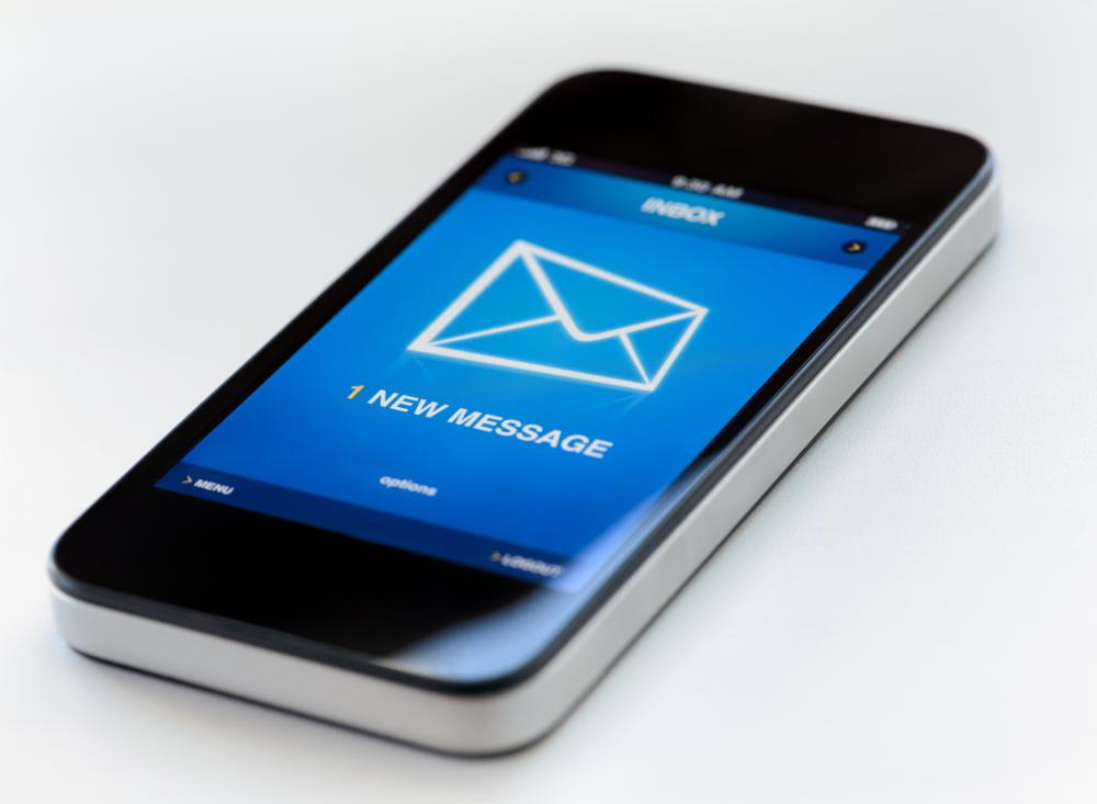 Most mobile devices can send and receive email.