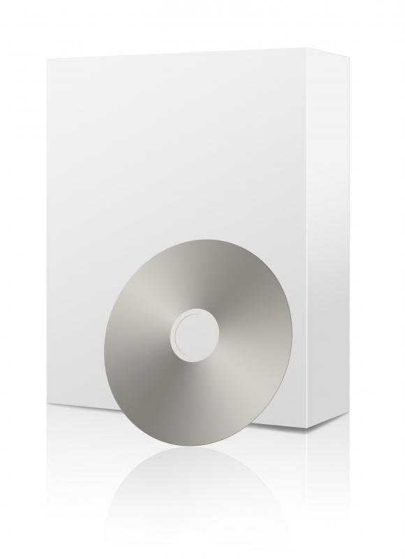A software package with a CD.