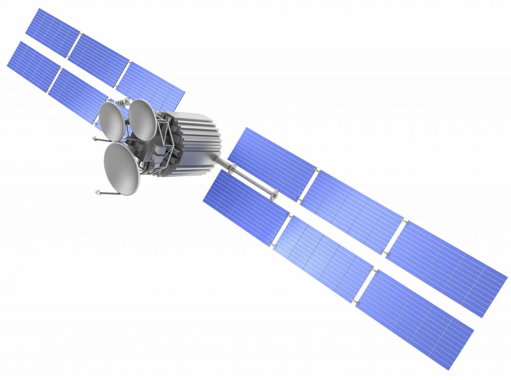 The UMTS network incorporates communications satellites.