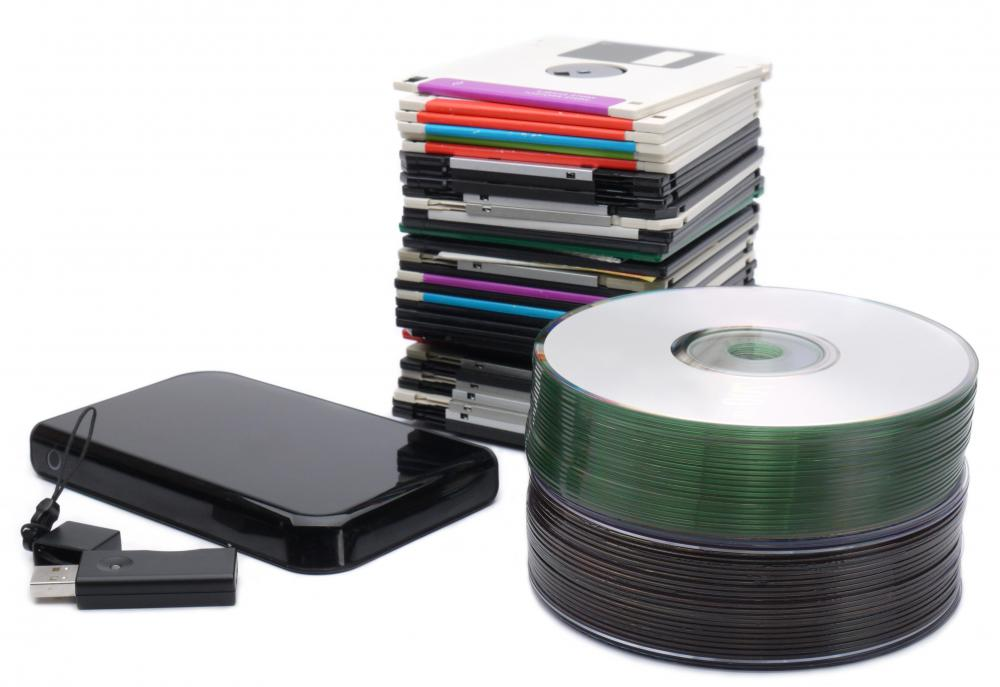 The storage space available on external drives has increased since floppy disks were introduced in the 1980s.