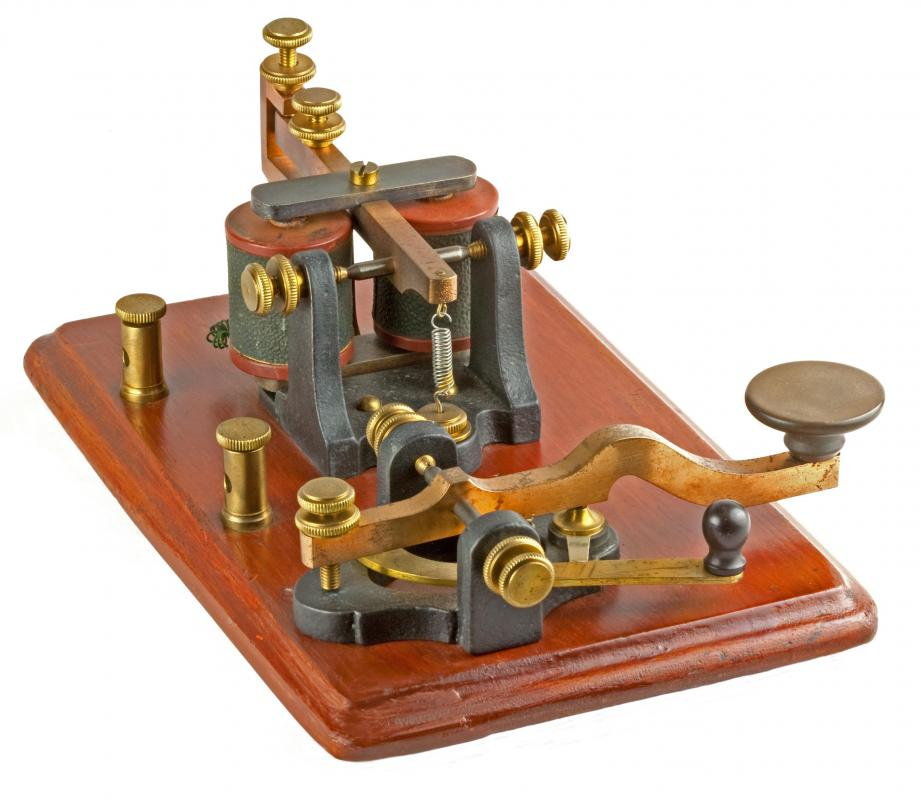 A telegraph, an old type of telecommunications technology.